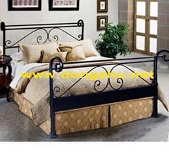 bed,metal bed