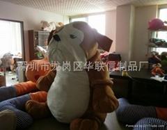 深圳超大型毛絨玩具廠家供應大型毛絨公仔訂做