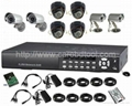 8 channel H.264 DVR surveillance system with 1000GB HDD 8 camera cctv system