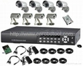 8 channel H.264 security camera system with 1000GB HDD cctv dvr kit