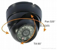 "420TVL 1/4"" Sharp CCD dome camera IR 15m"