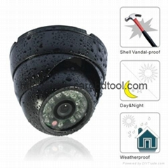 "1/4"" CCD Outdoor IR vandalproof Waterproof dome camera"