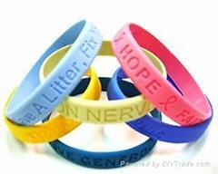 Debossed Silicone Bracelets