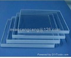 transparent polished quartz glass plate