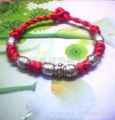 红绳藏银手链