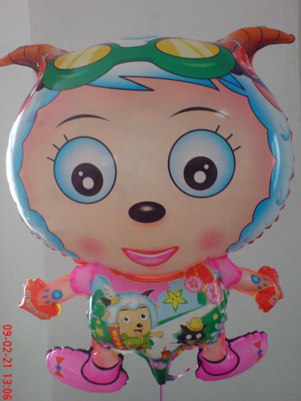 喜羊羊生日气球布置_表情大全图片