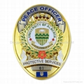 Customized Oval Shaped Police Badge
