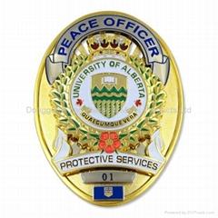 Customized Oval Shaped Police Badge