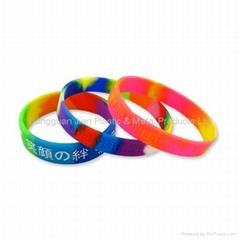 Segmented Color Silicone Bracelets