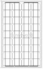 60w/60 watt monocrystalline solar module/solar panel