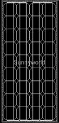 80w/80 watt monocrystalline solar module/solar panel
