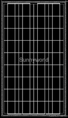 100w/100 watt polycrystalline solar module/solar panel