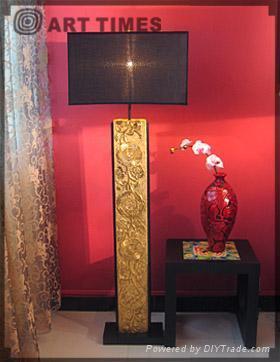floor lamp w/blooming flower 1
