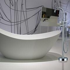 floor standing bathtub faucet