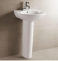 washbasin with pedestal