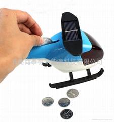 太陽能益智塑料玩具飛機