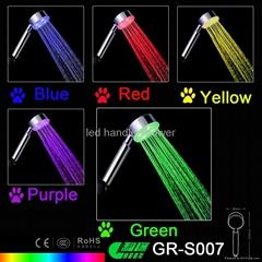 RGB LED shower head light