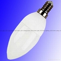 LED Candle lamp 3W, Cool White, Samsung LED, Base: E14, 120 degree