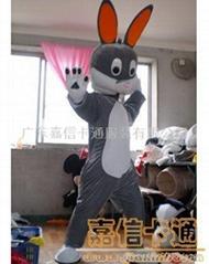 供应卡通灰兔服装