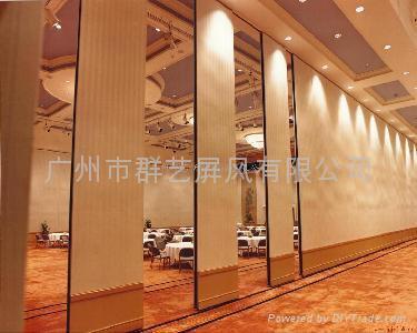 星级酒店专用移动隔音墙推拉吊趟门65 1