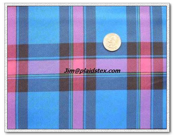 Polyester yarn dyed plaid, polyester plaid fabric 4