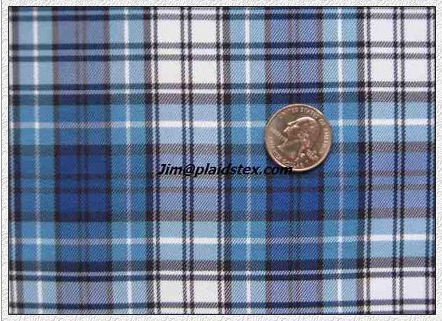 Polyester plaid, polyester yarn dyed plaid fabric  1