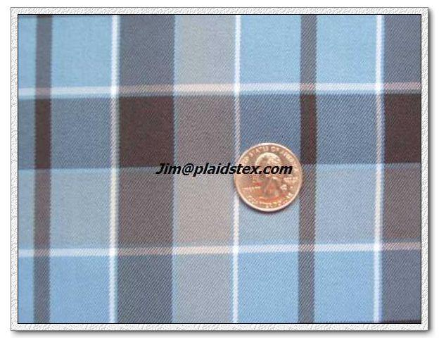 Polyester plaid, polyester yarn dyed plaid fabric  3