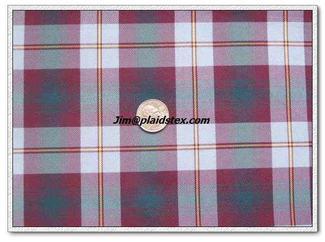 Polyester plaid, polyester yarn dyed plaid fabric  5