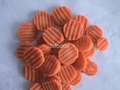 Frozen carrot dices