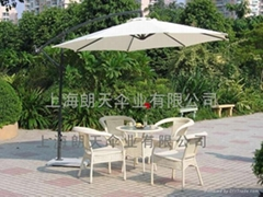 直杆庭院廣告傘
