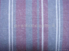 linen and viscose yarn dyed fabric