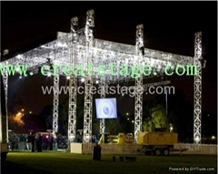 aluminum stage lighting truss