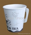 Paper cup with handle,Coffee paper cup, cold drinking paper cup,disposable paper 2