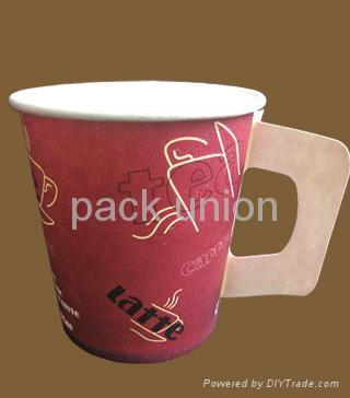 Paper cup with handle,Coffee paper cup, cold drinking paper cup,disposable paper 4