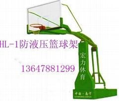 南寧剛化玻璃籃球架
