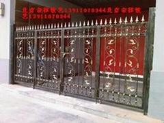 北京荣祥铁艺生产加工庭院铁艺大门