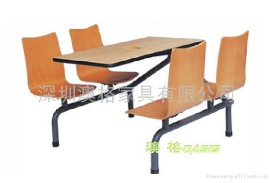 快餐廳桌椅 5