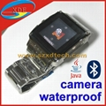 Real Waterproof Stainless Steel Watch Cell Phone