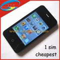 3.2 Inch Single Sim Card Replica iPhone 4 Built-in 4GB Memory for free