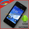 Quadband Capacity Touch Screen WCDMA+GSM Smart Phone Built-in 4GB for Free