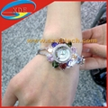 Lotus Flower Design Watches with Diamond
