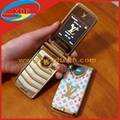 Most Luxury LV Mobile Phone Flip Design LED Display on the Cover