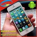 Cheapest Android iPhone 5 Copy Capacity Touch Screen with Easy Touch Metal Frame