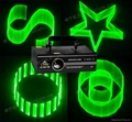 Green 3D laser light