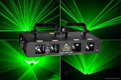 Four head green beam laser light