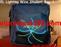 EL Glow Wire Tshirt Panel Decoration Lighting Up Student Bag ( HNR 0106 )