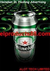 Amazing HEINEKEN EL Light Up Poster Animated Advertising ( HNR 0927 )