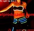 Hot EL Light Bra EL Wires Glowing Bra