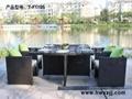 藤編桌椅---T-F1105