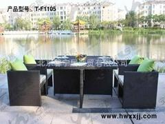 藤编桌椅---T-F1105